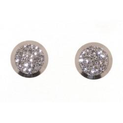 Boucles d'oreilles rond cristal