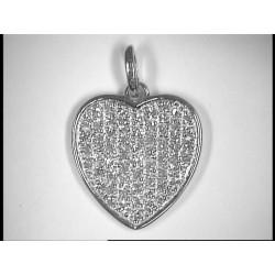 Pendentif diamants or blanc rhodié
