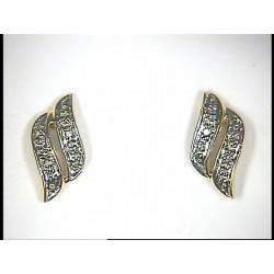 Boucles d'oreilles or jaune rhodié et diamants