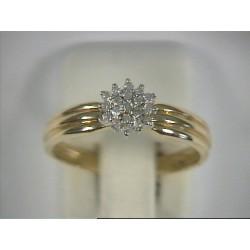 Bague or jaune 18 carat et diamants