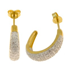 Boucles d'oreilles 56 diamants