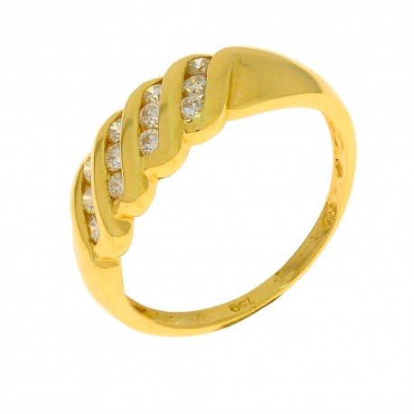 Bague 12 diamants