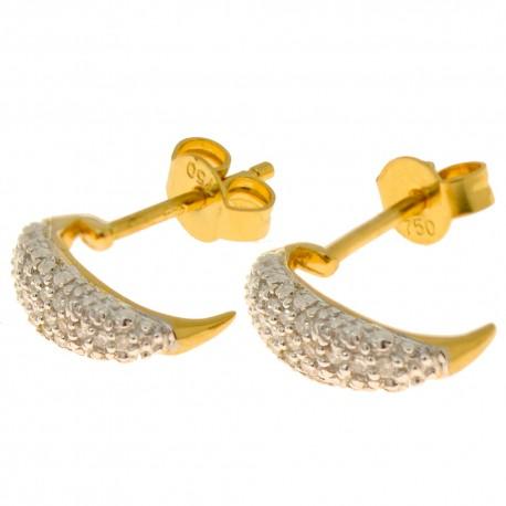 Boucles d'oreilles 40 diamants