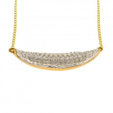 Parure collier 39 diamants