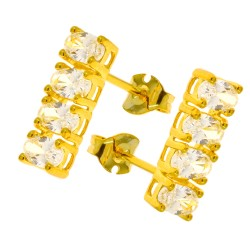 Earrings zirconium Swarovski