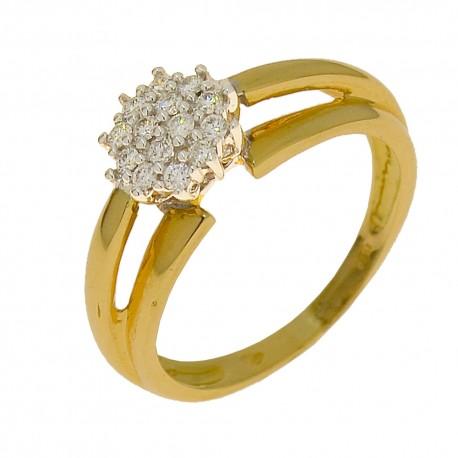 Ring 14 diamonds